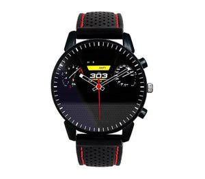 Alfa Romeo Giulia qv quadrifoglio verde stelvio top max speed silicone band red stitching watch wristwatch