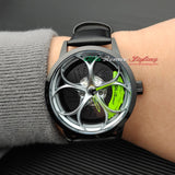 alfa romeo veloce v6 busso volante qv wheels wheel watch classic wristwatch orologio green calipers leather