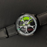 alfa romeo giulia stelvio quadrifoglio qv 3d wheel watch green calipers leather band