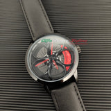 alfa romeo junior kimi raikkonen qv quadrifoglio verde f1 wheel watch leather orologio wristwatch brembo