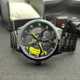 alfa romeo junior kimi raikkonen qv quadrifoglio verde f1 wheel watch orologio wristwatch yellow calipers gift 3d