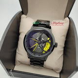 alfa romeo qv quadrifoglio verde 3d wheel watch yellow calipers f1 giulia giulietta gtv gta gt