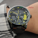 Alfa Romeo 3d wheel watch yellow calipers
