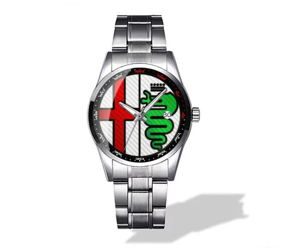 Alfa Romeo Multiple Color Logo Diamond Watch (4 logo variants)