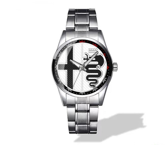 Alfa Romeo Wtite Logo Diamond Watch (3 logo variants)