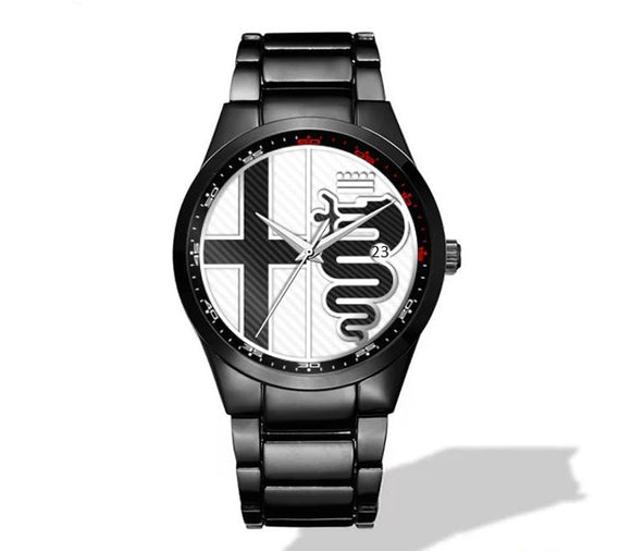 Alfa Romeo White Logo Nero Corse Watch (3 logo variants)
