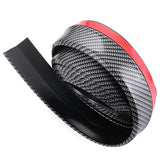 carbon fiber universal front spoiler lip any vehicle 3m tape easy installation
