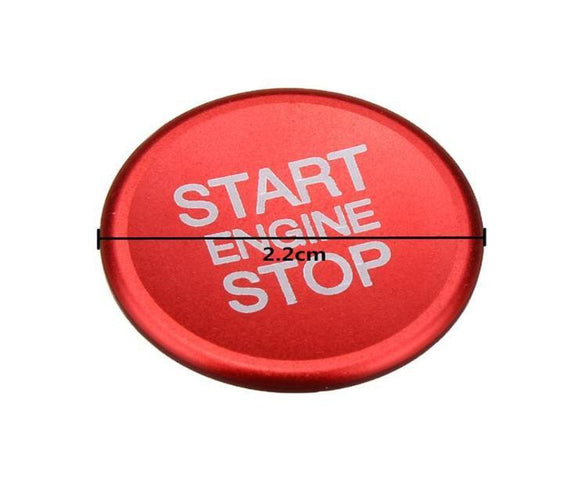 Quadrifoglio Verde red start/stop button-sticker