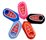 Silicone Rubber Car Key Cover Case For alfa romeo Giulietta High Quality 3 Buttons 5 Colors