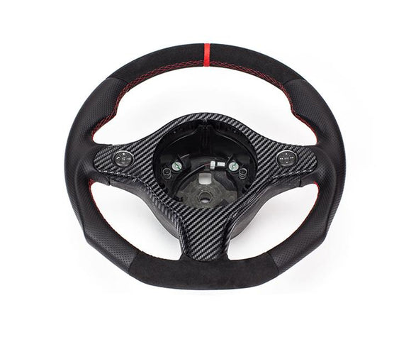 The steering wheel is something touch and look at everyday. Why not make it into something that shows your style?  Product specifications: Material: Leather + Alcantara   Package includes: 1x Modified Steering wheel for 159 / Brera / Spider