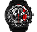 Alfa Romeo Giulia QV Wheel Silicone band watch (5 caliper colors)