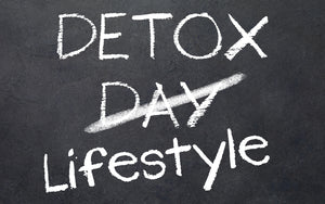 Detoxing and lifestyle chalk board