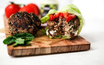 Keto Lettuce Wrapped Lamb and Mint Burger Recipe