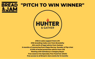 "Hunter & Gather Scoop ""Pitch To Win"" Prize"