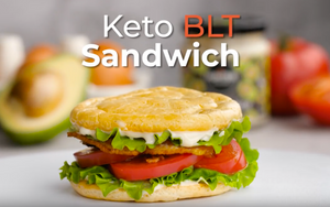 Keto BLT Cloud Bread Sandwich with Avocado Mayo