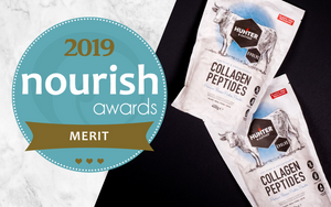 Award win logo for Nourish awards 2019