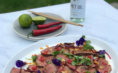 Juicy Beef With MCT Oil Dressing