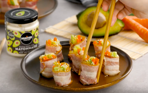bacon with sushi sticks