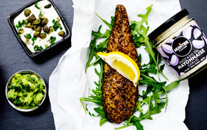 Warm Smoked Pepper Mackerel With A Caper And Garlic Mayo