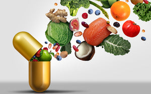Vitamin pill with real foods