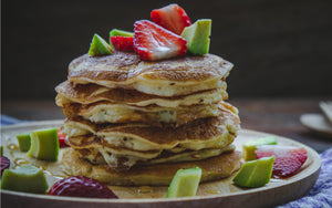 Paleo Avocado, Strawberry & Coconut Pancakes