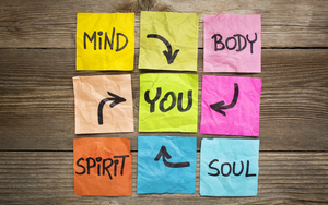 post its with mind body and soul