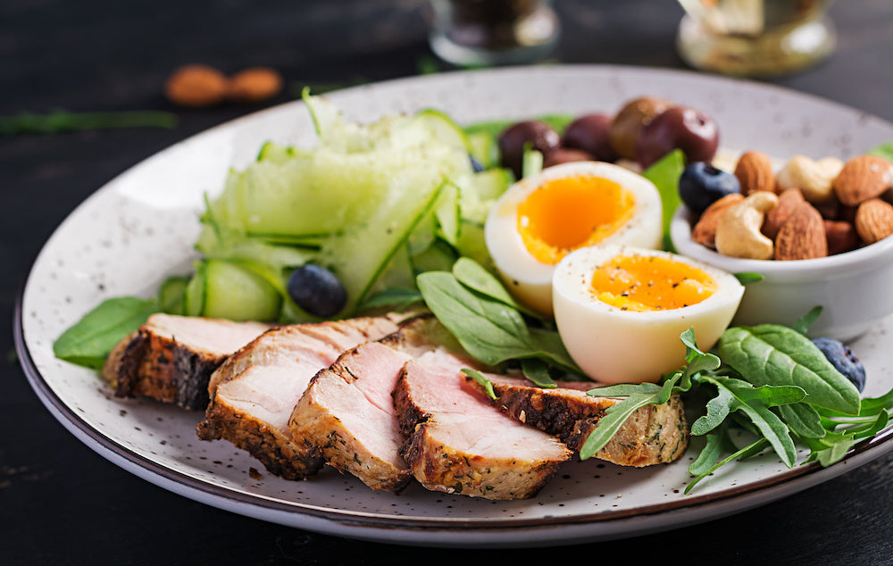 keto collagen: Healthy meal on a plate