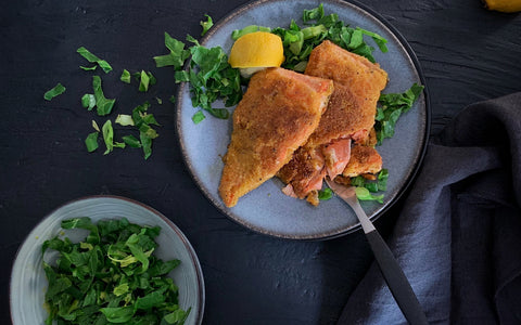 Salmon crusted Paleo with Almonds