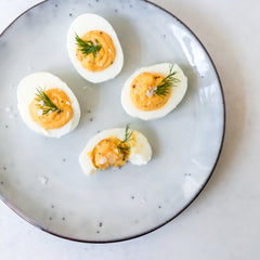 Stuffed Eggs with mayo and Dill
