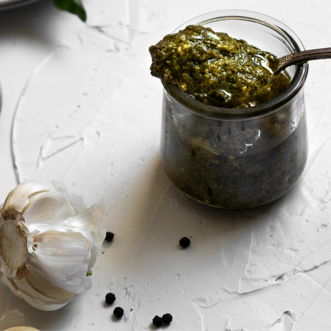 Keto and Paleo Basil Avocado Oil Pesto