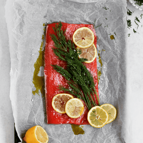 Hunter & Gather Lemon and Dill Salmon with 100% Olive Oil & Lemon Mayonnaise