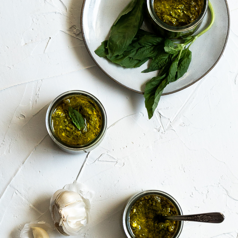 Keto and Paleo Basil Pesto with Avocado Oil