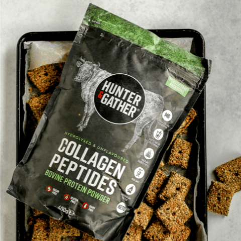 Hunter & Gather keto seed crackers with collagen peptides