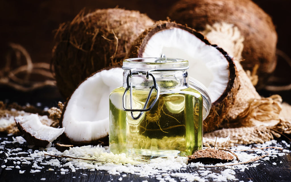 Is coconut good for you: coconut oil with coconuts