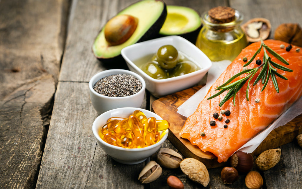 canola oil substitute: salmon, nuts, beans, avocado, and capsules