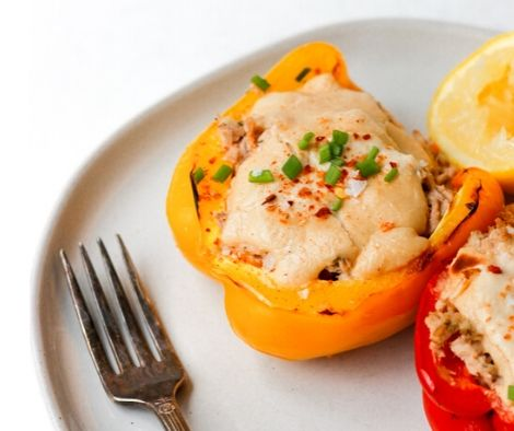 Stuffed peppers with cheese and mayo