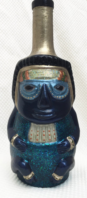 Hand-painted Pisco bottle - Huaco 1