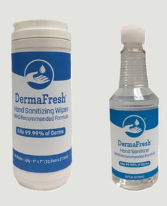 BUY ONE COMBO DEAL GET ONE 16oz BOTTLE FREE Derma Fresh HAND SANITIZER COMBO DEAL
