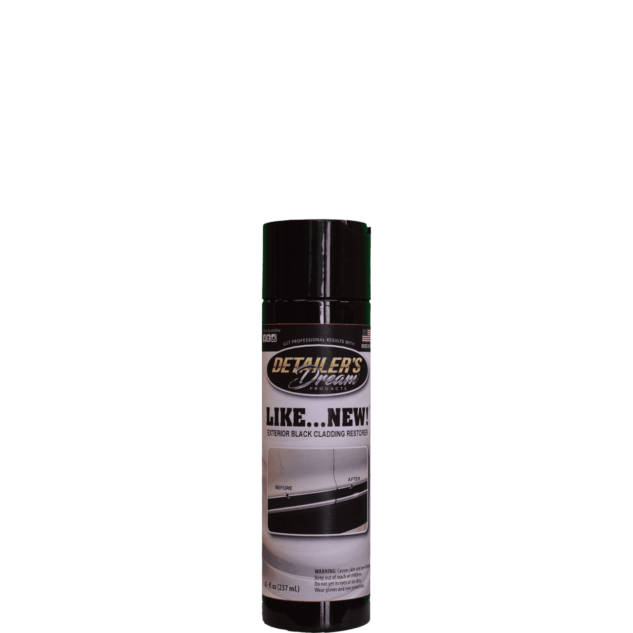 LIKE... NEW!™-Exterior Black Cladding and Engine Bay Restorer-Detailer's Dream