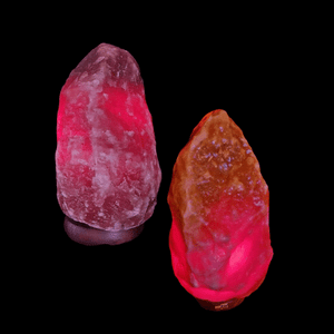 2 Premium Small Dark Salt Lamps