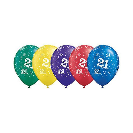 Load Image Into Gallery Viewer Number 21 Birthday Balloons