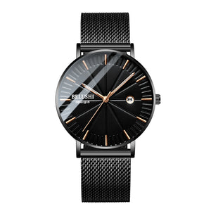 Simple Watch Men Business Quartz Wristwatches Waterproof Shock Resistant Leather Strap Outdoor Luxury Men Watches