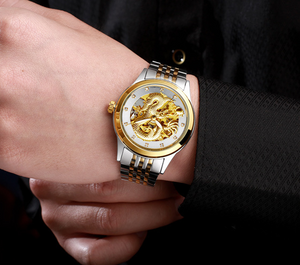 Golden luxury waterproof watch