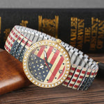 Classic, vintage, diamond flag watch.