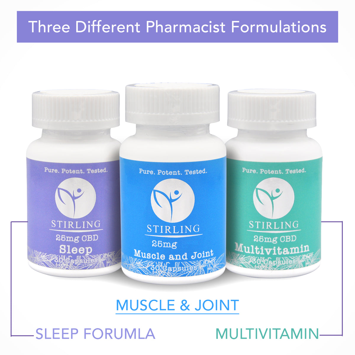 750mg CBD Capsules - Muscle & Joint - Multivitamin - Sleep