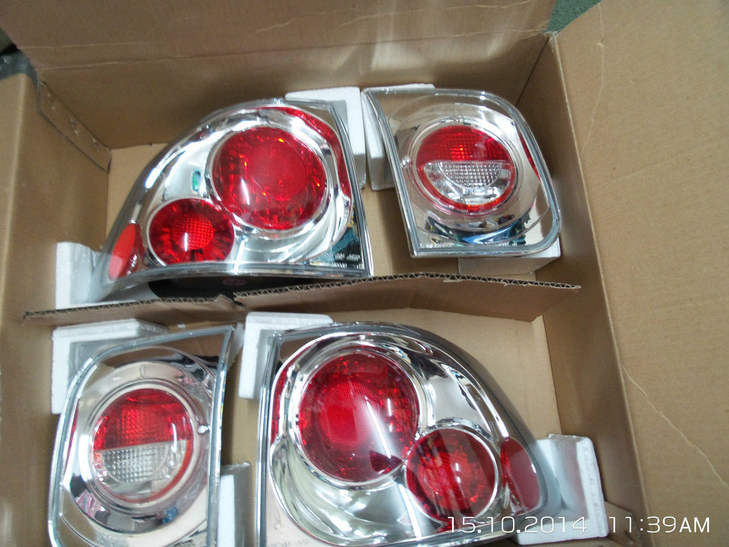 Honda Civic 4 Door Saloon Lexus Style Clear Rear Back Tail Lamp Light Cluster