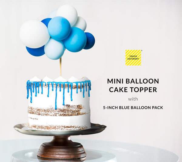 5-inch Small Balloons - Ocean Blue