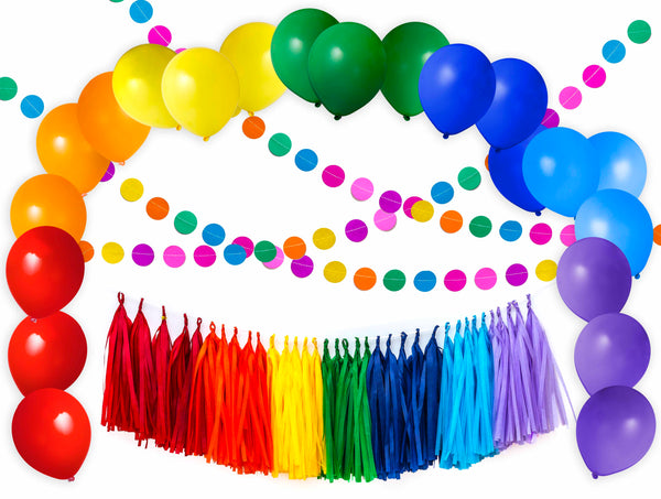 Party Decoration Kit - Rainbow, Fiesta, Colorful, Circus Theme