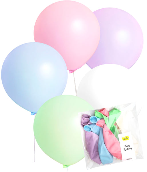 Extra Large 24 inch Balloons - Pastel Unicorn Party