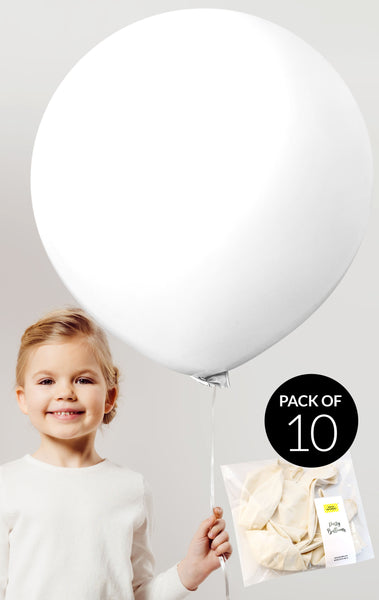 Extra Large 24 inch Balloons - Dream White Party